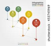 infographic design template.... | Shutterstock .eps vector #453745969