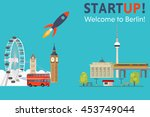 startup  welcome to berlin.... | Shutterstock .eps vector #453749044