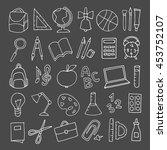 vector hand drawn cute school... | Shutterstock .eps vector #453752107