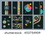 abstract composition. patch... | Shutterstock .eps vector #453754909