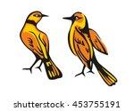 golden oriole isolated on white ... | Shutterstock .eps vector #453755191