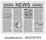 newspapers. flat design style. | Shutterstock .eps vector #453755791
