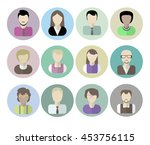 office workers avatars on white ... | Shutterstock . vector #453756115