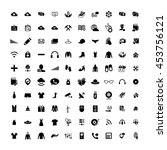 set of 100 universal icons.... | Shutterstock .eps vector #453756121