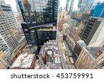 streetward view of new york... | Shutterstock . vector #453759991