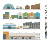 large warehouse preparing goods ... | Shutterstock .eps vector #453765271