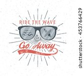 vintage surfing graphics and... | Shutterstock .eps vector #453766429