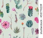 exotic natural vintage... | Shutterstock . vector #453770239