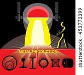 blast furnace metal smelting.... | Shutterstock .eps vector #453772399