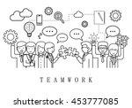 teamwork  people team   on... | Shutterstock .eps vector #453777085