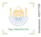 indian independence day with...   Shutterstock .eps vector #453777709