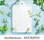 sage  basil  rosemary  melissa... | Shutterstock . vector #453783955