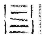 nine isolated brush strokes ... | Shutterstock .eps vector #453788209