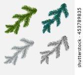 set of fir  pine branches...   Shutterstock .eps vector #453789835
