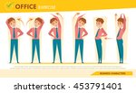 man office syndrome info... | Shutterstock .eps vector #453791401