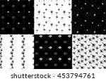set of six vector seamless... | Shutterstock .eps vector #453794761