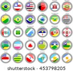 set of icons. flags of the... | Shutterstock .eps vector #453798205