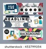 trendy geometric flat pattern ... | Shutterstock .eps vector #453799354