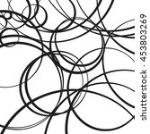random scattered circles... | Shutterstock .eps vector #453803269