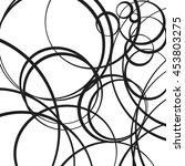 random scattered circles... | Shutterstock .eps vector #453803275