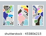 collection of trendy creative... | Shutterstock .eps vector #453806215