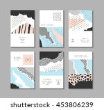 collection of trendy creative... | Shutterstock .eps vector #453806239