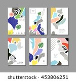 collection of trendy creative... | Shutterstock .eps vector #453806251