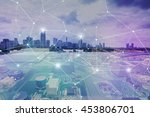 fusion of modern cityscape and... | Shutterstock . vector #453806701