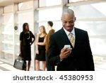 a business man with a smart...   Shutterstock . vector #45380953