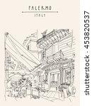 Street Cafe In Palermo  Sicily...