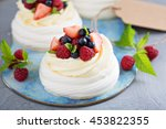 Pavlova Cakes With Cream And...