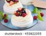 Pavlova Cakes With Cream And...