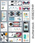 annual report brochure template ... | Shutterstock .eps vector #453822949