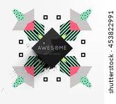 trendy geometric flat pattern ... | Shutterstock .eps vector #453822991