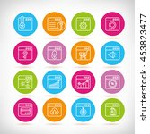 web and seo icons | Shutterstock .eps vector #453823477