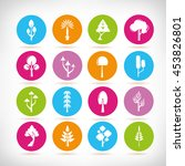 tree icons | Shutterstock .eps vector #453826801
