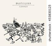 bratislava skyline  bratislava  ... | Shutterstock . vector #453830125