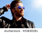 confident handsome man in... | Shutterstock . vector #453830281