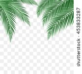 palm leaves vector background. | Shutterstock .eps vector #453833287