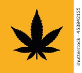 black marijuana leaf icon.... | Shutterstock .eps vector #453842125