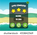 mobile game level completed pop ... | Shutterstock .eps vector #453842569