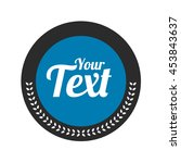 round badge shape vector...   Shutterstock .eps vector #453843637