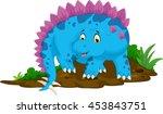 funny stegosaurus cartoon   Shutterstock .eps vector #453843751