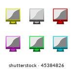 set of multi coloured monitors... | Shutterstock . vector #45384826