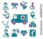 ambulance  medical  emergency...   Shutterstock .eps vector #453848731