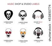 completed grunge horror music... | Shutterstock .eps vector #453850774