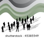 illustration of business people | Shutterstock .eps vector #45385549
