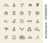 travel destination icon vectors ... | Shutterstock .eps vector #453858655