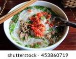 close up of pho traditional... | Shutterstock . vector #453860719