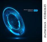 futuristic technology hud... | Shutterstock .eps vector #453863635